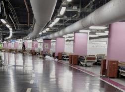 حيفا : تحضير موقف السيارات الارضي في مركز رامبام الطبي ليكون قسم لاستيعات مرضى كورونا! _