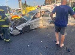 حيفا - إصابتان متفاوتتان بحادث طرق