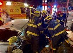 حيفا : اصابة شاب وفتاة بحادث طرق!تصوير : ربيع حصري