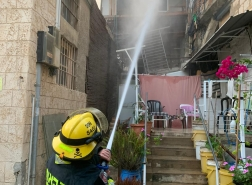 حيفا - اندلاع حريق بمبنى سكني في جادة هتسيونوت