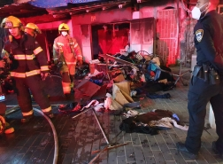 حيفا - اندلاع حريق في محلات تجارية لبيع الملابس في حي الهدار!