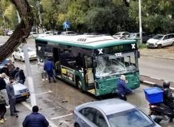حادث طرق في شارع اللنبي حيفا