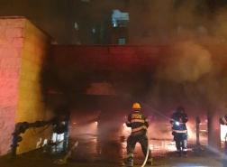 حيفا ٢٥ اصابه جراء استنشاق الدخان.