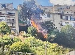 *اندلاع حريق في منطقة أشواك بين منازل في حيفا*