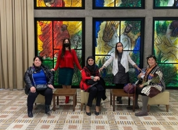افتتاح  معرض في ديوان رئيس الدولة بالقدس بمناسبة الثامن من اذار يوم المرأة العالمي.