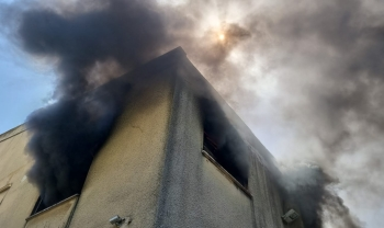 *حريق داخل مبنى سكني في حيفا*
