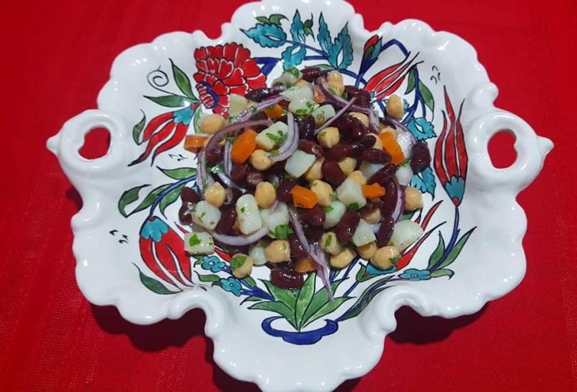 سلطة الفاصوليا الحمراء تقديم الطاهية الارمينية اربينيه ديميرجيان من #حيفا