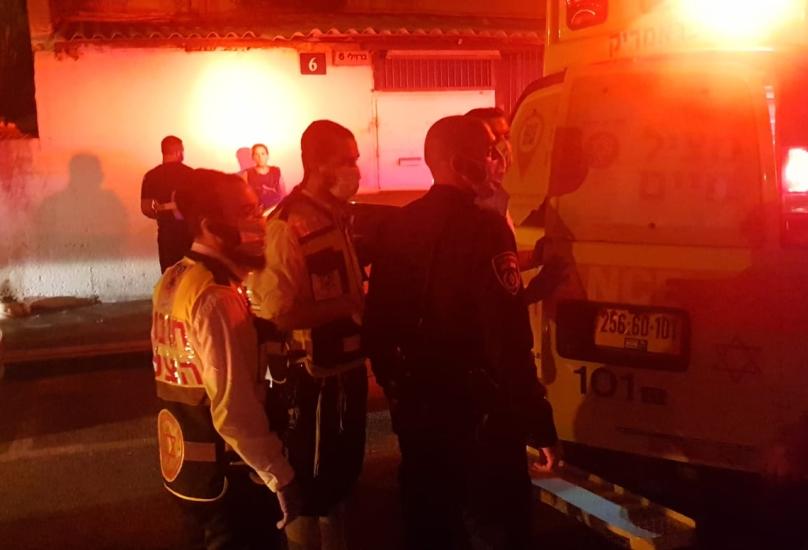 حيفا : اصابة شاب في شارع برزيلاي