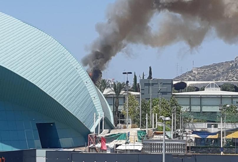 حيفا: اندلاع حريق في مساحات أشواك قرب أنفاق الكرمل*