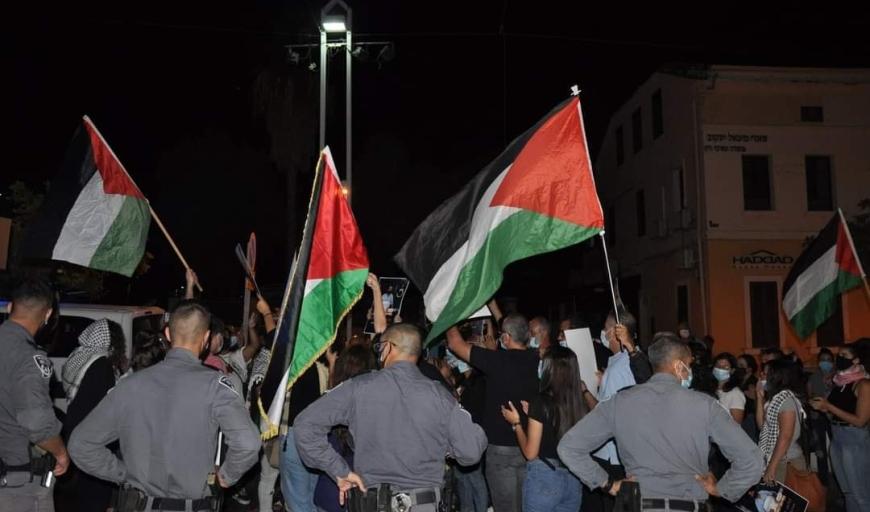 حيفا - حشد غفير  في مظاهرة مساندة للأسير ماهر الاخرس!